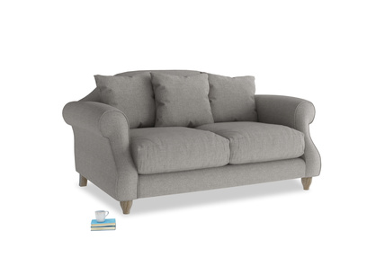 Small Sloucher Sofa in Marl grey clever woolly fabric
