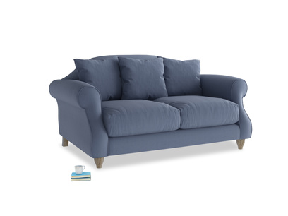 Small Sloucher Sofa in Breton blue clever cotton