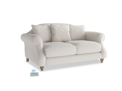 Small Sloucher Sofa in Chalk clever cotton