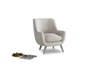 Berlin Armchair in Moondust grey clever cotton
