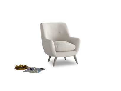 Berlin Armchair in Chalk clever cotton