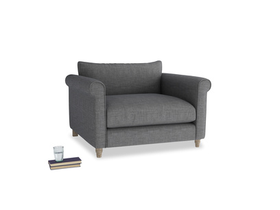 Weekender Love seat in Strong grey clever woolly fabric