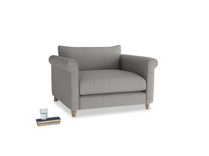Weekender Love seat in Marl grey clever woolly fabric