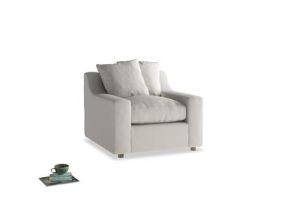 Cloud Armchair in Moondust grey clever cotton