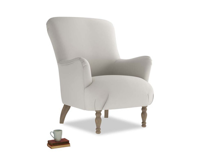 Gramps Armchair in Moondust grey clever cotton