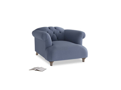 Dixie Armchair in Breton blue clever cotton