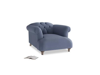 Dixie Armchair in Breton blue clever cotton