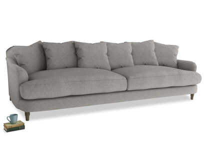 Extra large Achilles Sofa in Marl grey clever woolly fabric