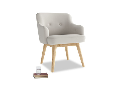 Smudge Armchair in Moondust grey clever cotton