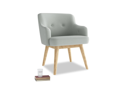 Smudge Armchair in Eggshell grey clever cotton