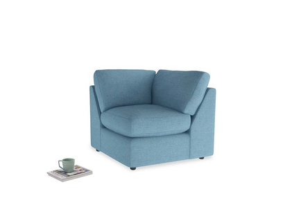 Chatnap Corner Unit in Moroccan blue clever woolly fabric