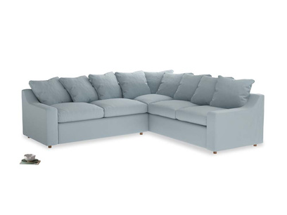 Even Sided Cloud Corner Sofa in Scandi blue clever cotton