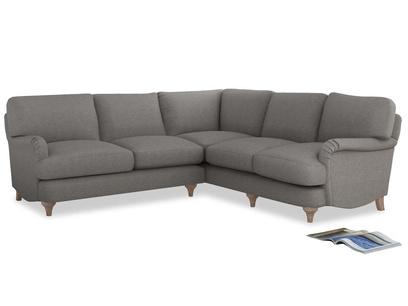 Even Sided Jonesy Corner Sofa in Marl grey clever woolly fabric