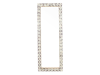 Zebedee long floor mirror with bone inlay