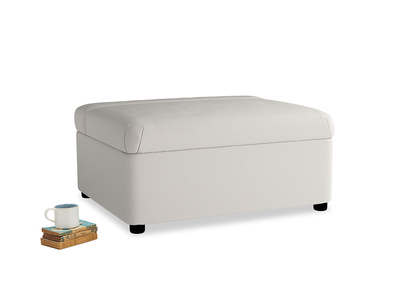 Single Bed in a Bun in Chalk clever cotton