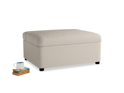 Single Bed in a Bun in Buff brushed cotton