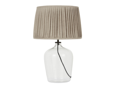 Medium Flagon Table Lamp with Natural shade