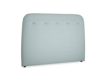 Kingsize Napper Headboard in Smoke blue brushed cotton
