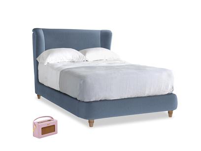 Double Hugger Bed in Winter Sky clever velvet