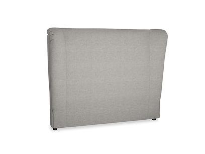 Double Hugger Headboard in Marl grey clever woolly fabric