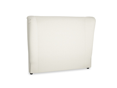 Double Hugger Headboard in Oat brushed cotton