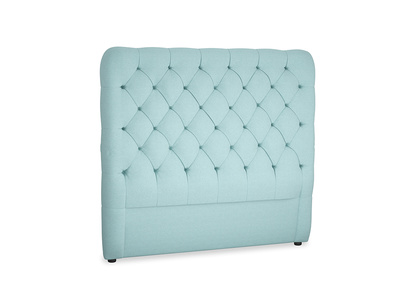 Double Tall Billow Headboard in Adriatic washed cotton linen