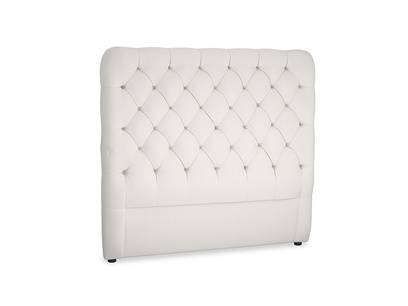 Double Tall Billow Headboard in Chalk clever cotton