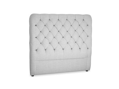 Double Tall Billow Headboard in Cobble house fabric