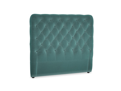 Double Tall Billow Headboard in Real Teal clever velvet