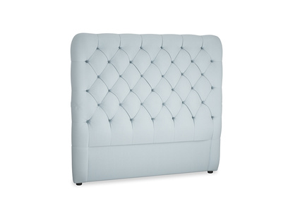 Double Tall Billow Headboard in Scandi blue clever cotton