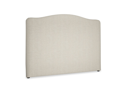 Tall Luna french style curved upholstered headboard
