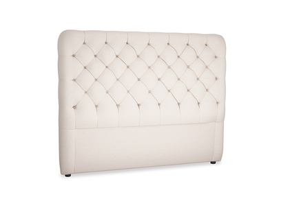 Kingsize Tall Billow Headboard in Faded Pink brushed cotton