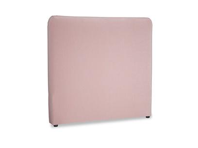 Double Ruffle Headboard in Chalky Pink vintage velvet