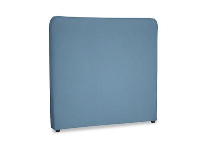 Double Ruffle Headboard in Easy blue clever linen