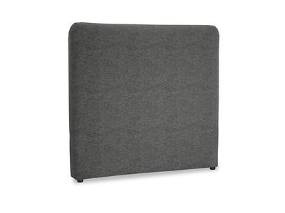 Double Ruffle Headboard in Shadow Grey wool