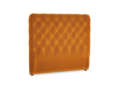 Double Tall Billow Headboard in Spiced Orange clever velvet