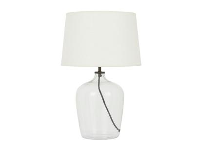Medium Flagon Lamp with a Natural Hessian lampshade