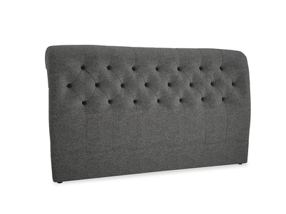 Superking Dozer Headboard in Shadow Grey wool