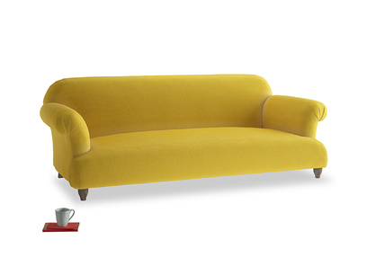 Large Soufflé Sofa in Bumblebee clever velvet