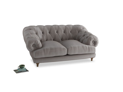 Small Bagsie Sofa in Soothing grey vintage velvet