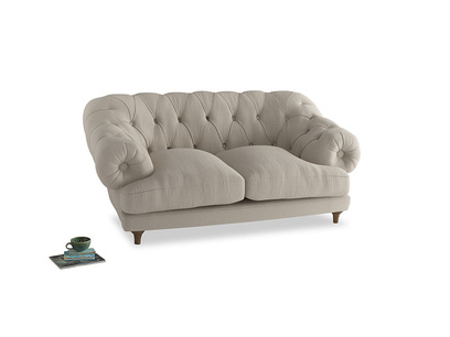 Small Bagsie Sofa in Buff brushed cotton