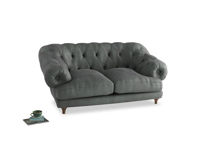 Small Bagsie Sofa in Faded Charcoal beaten leather