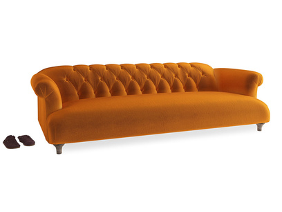 Extra large Dixie Sofa in Spiced Orange clever velvet