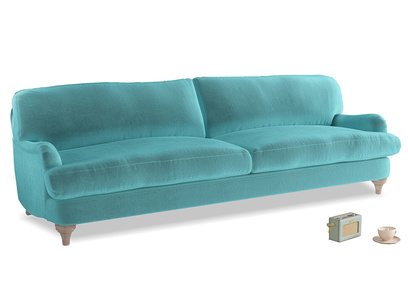 Extra large Jonesy Sofa in Belize clever velvet
