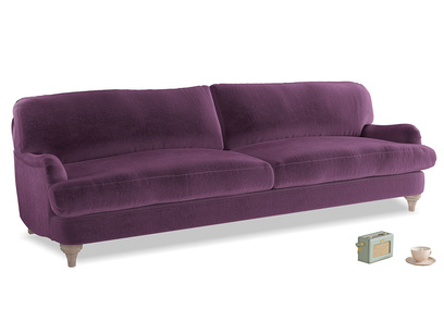 Extra large Jonesy Sofa in Grape clever velvet