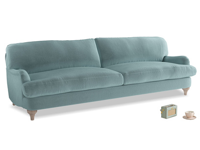 Extra large Jonesy Sofa in Lagoon clever velvet