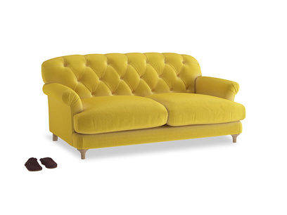 Medium Truffle Sofa in Bumblebee clever velvet