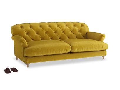 Large Truffle Sofa in Burnt yellow vintage velvet