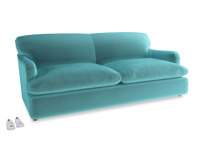 Large Pudding Sofa Bed in Belize clever velvet