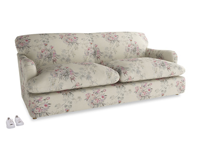 Large Pudding Sofa Bed in Pink vintage rose